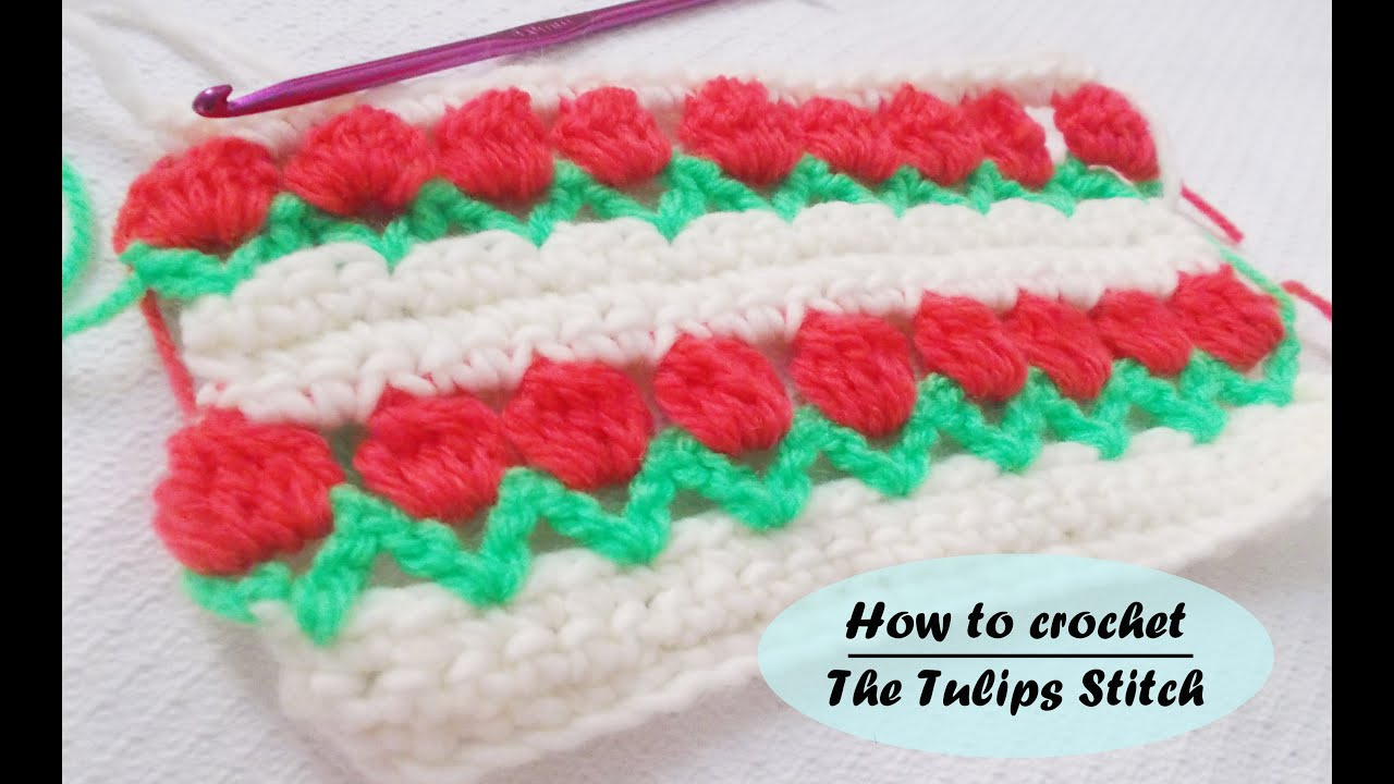 How to crochet The Tulip Stitch - Very easy - Even for begginers ...