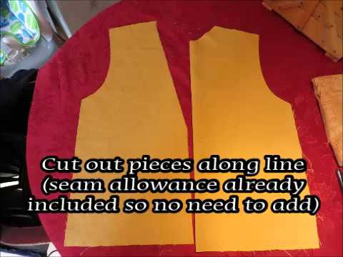 How to Sew an Easy Vest / Waistcoat - YouTube