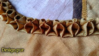very beautiful latest blouse design | Blouse design 2021 cutting and stitching - Design pur