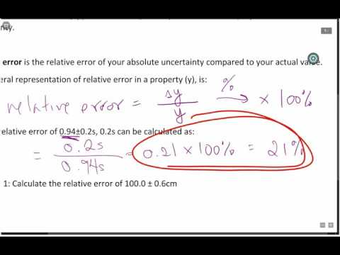 Absolute and Relative error