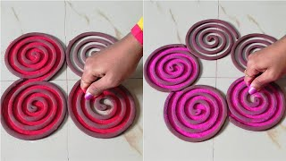 Top rangoli designs for beginners by using coils