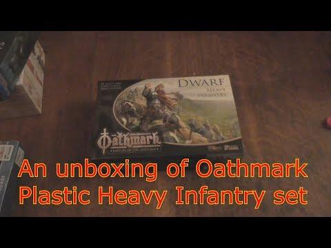 An unboxing of Oathmark Dwarf Heavy Infantry plastic set