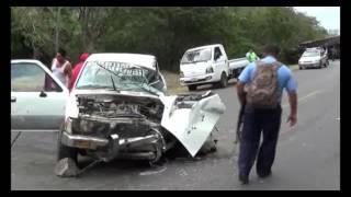 FUERTE ACCIDENTE DE TRANSITO  EN CARRETERA JUIGALPA MANAGUA