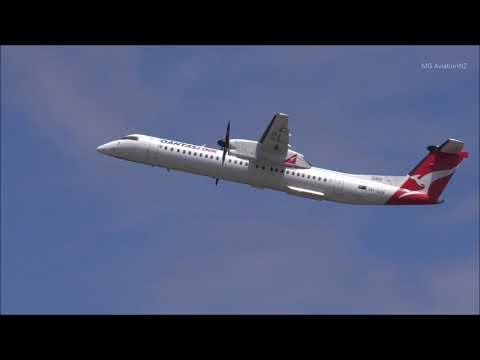 QantasLink Bombardier Dash 8 Q400 Takeoff Sydney Airport