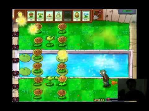 Gameplay Plants Vs Zombies Level 3-1