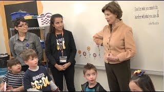 Former First Lady Laura Bush visits ECDC