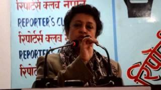 sujata koirala/Nepalese politician/nepali news/hot news.