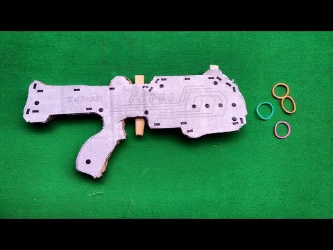 How to make a cardboard gun that shoots rubber bands | Toy weapons you can make at home