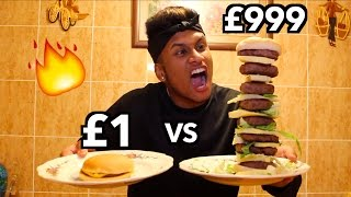 £1 BURGER vs £999 DIY BURGER *ULTIMATE BURGER TASTE TEST CHALLENGE*