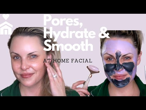 LARGE PORES & HYDRATION At Home Professional Facial || Isolation DIY #AD