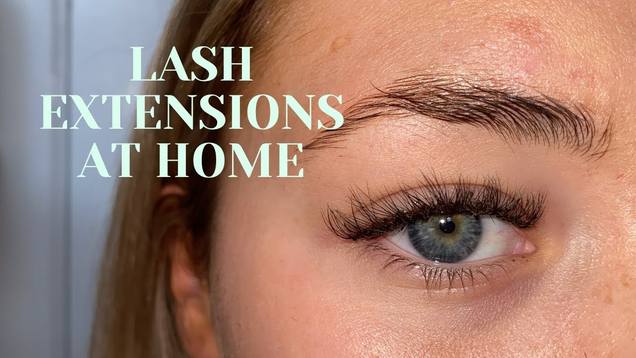 DOING MY OWN EYELASH EXTENSIONS   DIY LASHES AT HOME - YouTube