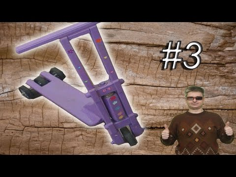 Homemade wooden scooter #3