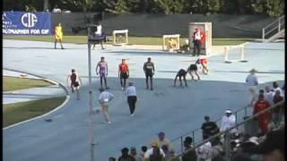 Alyson Feilx  Matt Bruno reggie bush State Meet 200m 2002