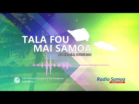 Radio Samoa - News from Samoa (18 JUN 2021)