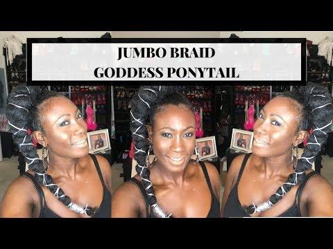 jumbo braid goddess ponytail tagged videos on videoholder