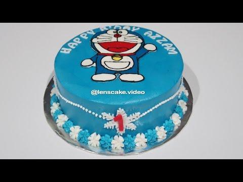 How To Make Birthday Cake Doraemon Easy Cara Membuat Kue Ulang Tahun Doraemon Yang Mudah Youtube