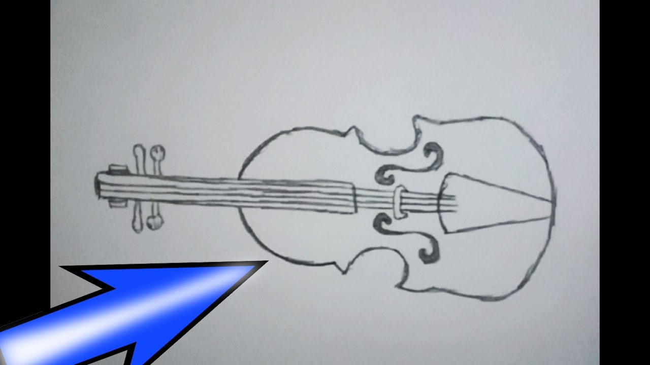 Easy Violin Drawing