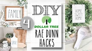 DIY Dollar Tree Rae Dunn Hacks | 4 PROJECTS!