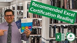 Excel 2016 Certification Book Recommendations