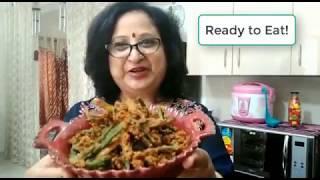 Kurkuri Bhindi | Spicy Deep Fried Okra | #LalitasJhatpatRecipes