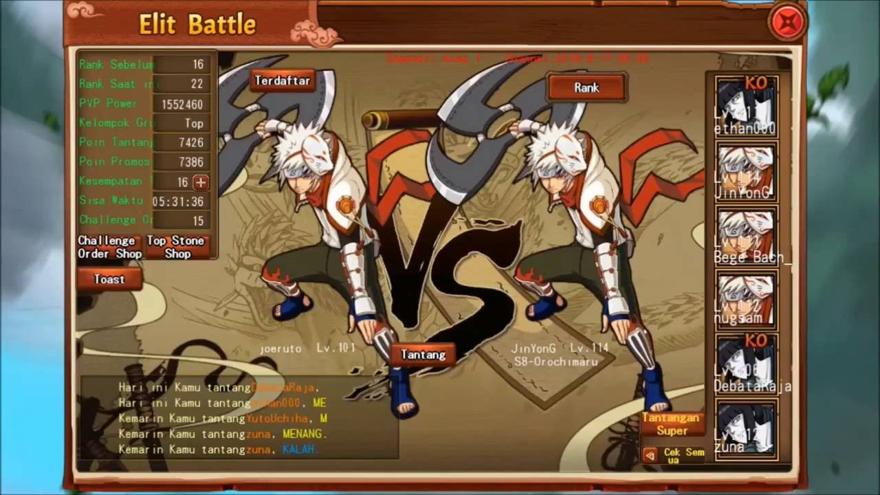 Shinobi Heroes ...Elite Match vs DebataRaja S85 - YouTube