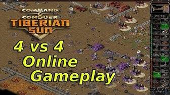 Tiberian Sun Online - 4 vs 4 - Fantastic defence Gameplay!
