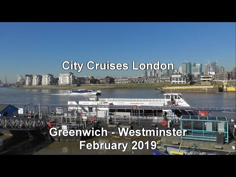 City Cruises London, February 2019, Greenwich - Westminster