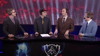SK Telecom T1 vs KOO Tigers Game 4 post-match analyst desk | Finals S5 LoL Worlds thumbnail