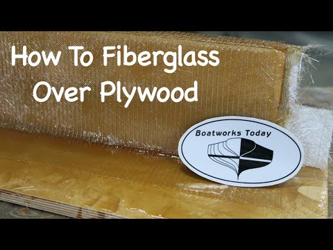 How To Fiberglass Over Plywood - YouTube