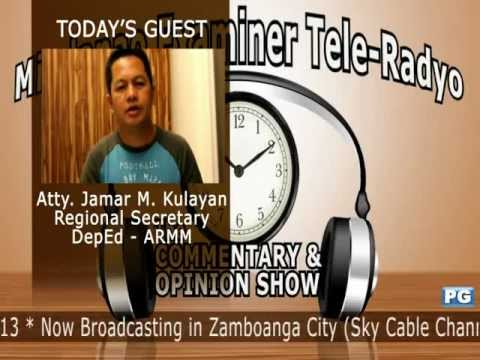 Mindanao Examiner Tele-Radyo Nov. 20, 2012 - Today's Guest: