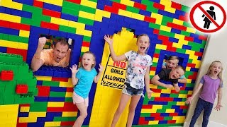 Giant Lego Fort Escape Room Boys Only With Kids Fun TV No Girls Allowed!!