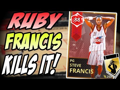 NBA 2K18 MYTEAM RUBY STEVE FRANCIS GAMEPLAY! WHOA DIDNT SEE THAT COMING!