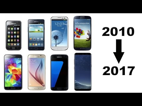 History of Samsung Galaxy S Phones 2010-2017