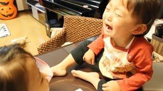 2013/10/25 【Y:1歳11ヶ月/R:4歳4ヶ月】 泣いちゃったけど強くなってき...