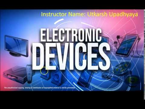 Electronic Devices and Circuits 00 Syllabus and Introduction GATE ESE SSC  JE IES