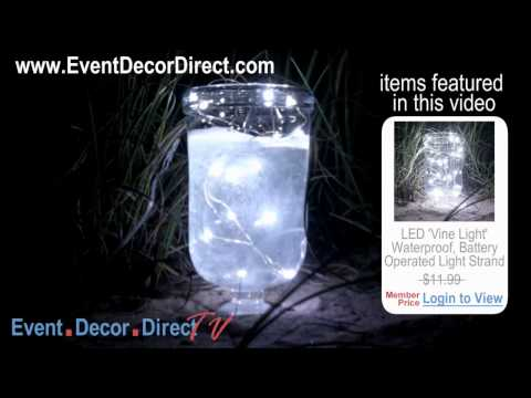 Event Decor Direct TV - LED Vine Light Strand - Waterproof! Battery Operated. WATER TEST
