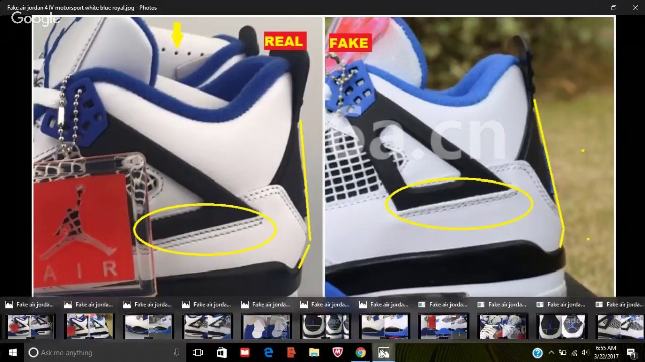 c723753461e823 ... sale fake air jordan 4 iv motorsport spotted quick tips to avoid them  0bfdc 2a3cd