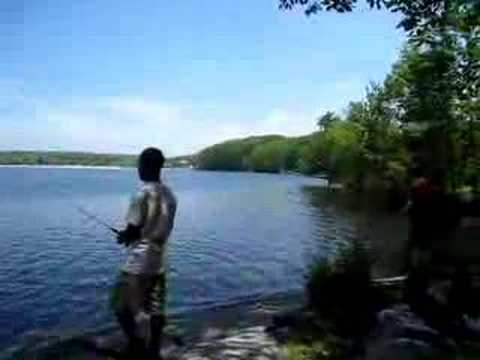 Fishing at lake welch youtube for New york out of state fishing license