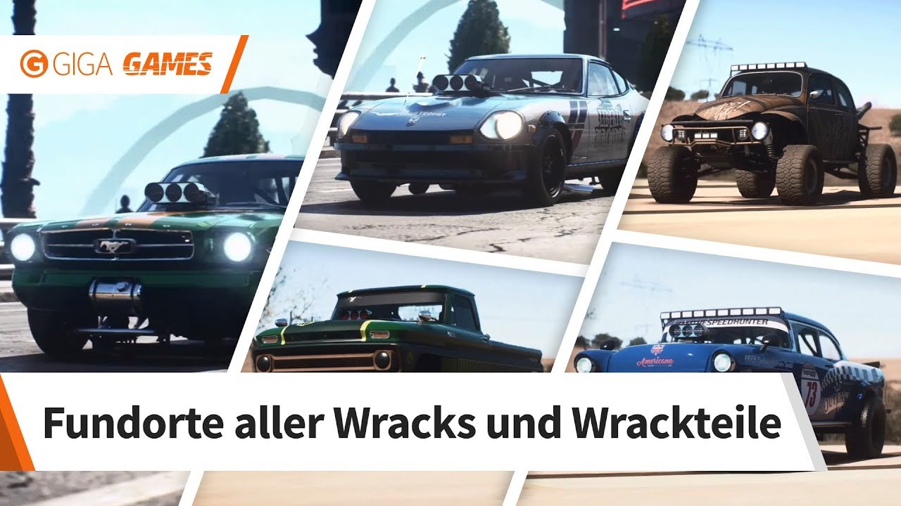 Need for speed payback fundorte aller wracks und wrackteile