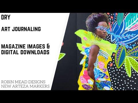 DRY Art Journaling: Magazine Images & Digital Downloads