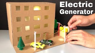 How to Make Electric Generator - Science Project for Kids - Dollhouse