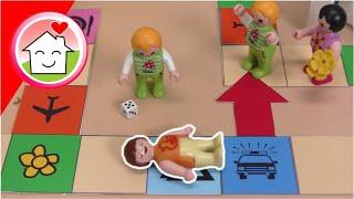 Playmobil Familie Hauser - Die Kindergartenrally - Riesen Brettspiel mit Anna