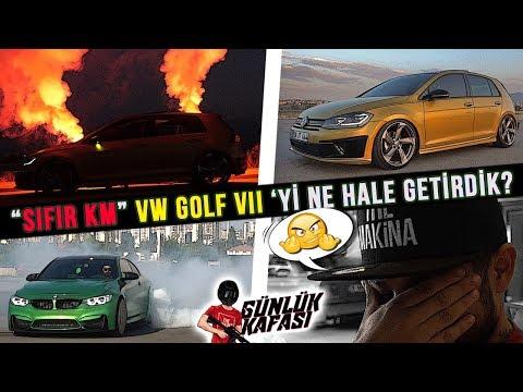 SIFIR KM VW GOLF 7 'yi Ne Hale Getirdik? BMW M4 ile YAKTIK!   günLük kafası .#10