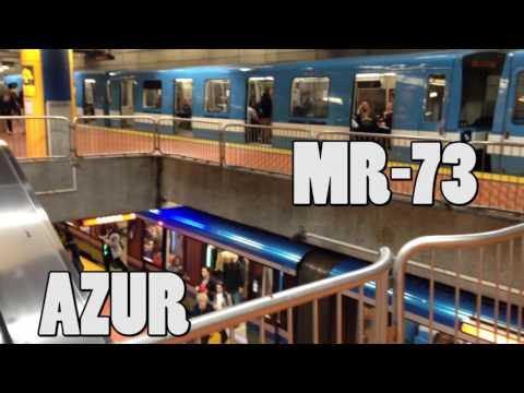 Rarest Sight in Montreal Metro - Four Trains, Three Models, and MR-73 on Green Line
