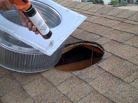 How To Install A Roof Vent Part 1 Youtube