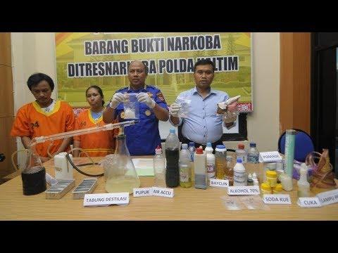 VIDEO - Polisi Temukan Industri Narkoba Rumahan di Samarinda