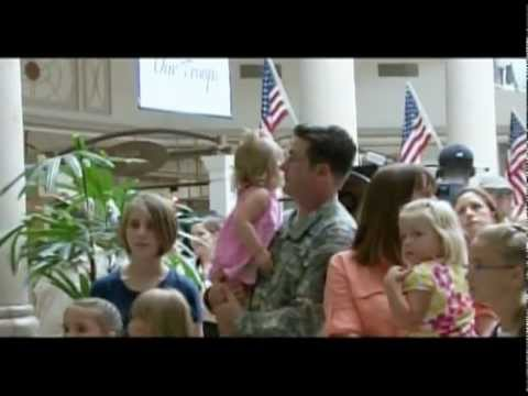 Singing Flash Mob Overwhelms Soldier
