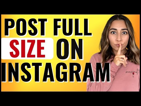 How to post LARGER Instagram photos 2021 ✅ (Full Screen Pic)
