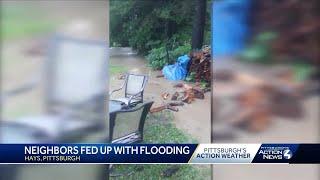 Neighbors fed up with flooding in Pittsburgh's Hays neighborhood