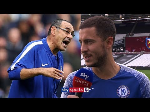 Eden Hazard says he feels 200% and is enjoying playing under Maurizio Sarri